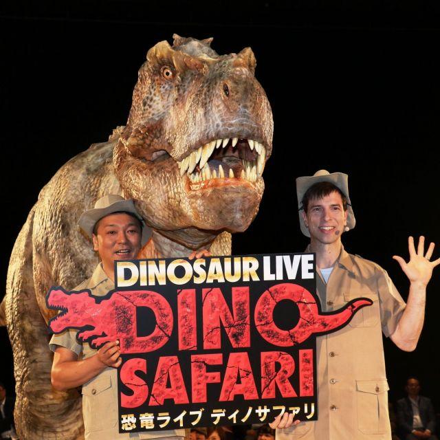 《渋谷》ほえてかみつくリアルな恐竜ライブショー「DINO SAFARI」開催 ヒカリエ