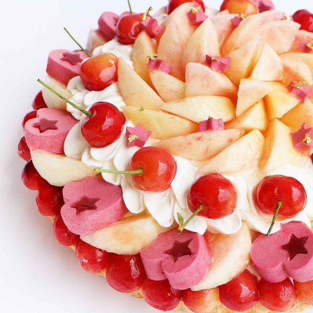 カフェコムサが七夕にちなんだケーキ
