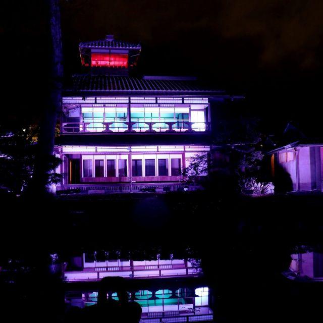 《京都》旧三井家下鴨別邸で現代アート展とライトアップ