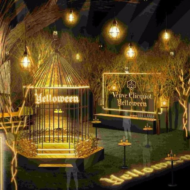"""《六本木》大人のためのハロウィンイベント『Veuve Clicquot""""Yelloween""""』 26日(木)~28日(土)に開催"""