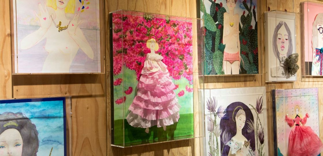 《中目黒》時にはアートで活力を 女性ユニットが〝万華鏡〟をテーマに展示会
