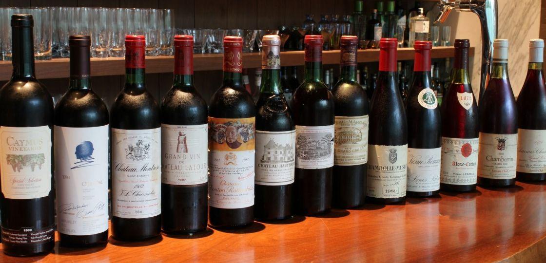 《赤坂見附》30年超熟成のビンテージワインをグラスで飲み比べ