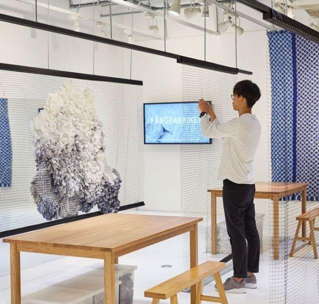 《有楽町》スウェーデンのアーティストと「雲」をテーマにした巨大なラグ作り 「Handscape」展、開催中